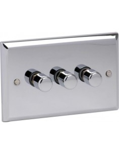 Dual Voltage Shaver Lights Chrome