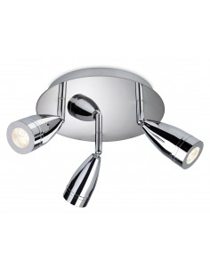 Storm 3 Light Flush Chrome 9W LED