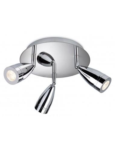 Storm 3 Light Flush Chrome 9W LED