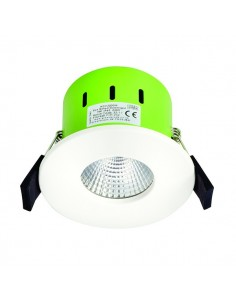 9W LED Fixed Warm White Downlight c/w White Bezel