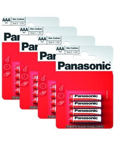Panasonic Battery Zinc AAA R03R-4BP -...