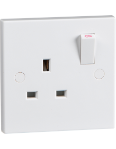 13A 1 Gang Switched Socket