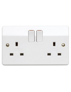 13A 2 Gang Switched Socket
