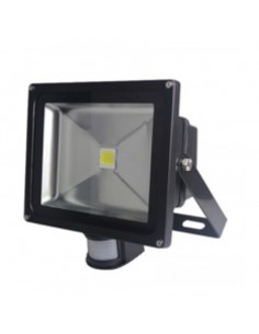 30w LED Floodlight with PIR Black